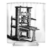 Benjamin Franklins Printing Press Shower Curtain