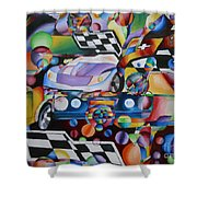 Ben's Car Show Shower Curtain