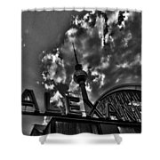 Berlin Alexanderplatz Shower Curtain by Juergen Weiss