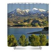 Bermejales Lake Shower Curtain