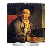 Bernard Le Bovier De Fontenelle, French Shower Curtain by Science Source