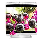 Berry Burst   Poke Berries Shower Curtain
