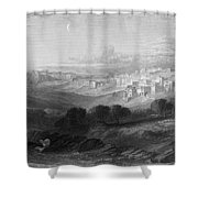 Bethlehem Engraving By William Miller Shower Curtain