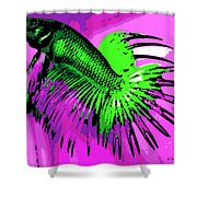 Betta Shower Curtain by George Pedro