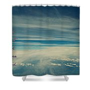 Between Earth And Sky Shower Curtain