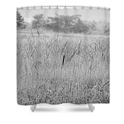 Between Mountains And Meadows Shower Curtain