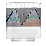Between The Mountains And The Fishes Shower Curtain