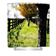 Between Two Farms Shower Curtain