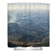 Between Vancouver And Kelowna Bc Canada Shower Curtain