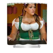 Beverage Wench Shower Curtain