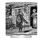 Bewick: Beggar Shower Curtain