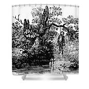 Bewick: Hanged Man Shower Curtain