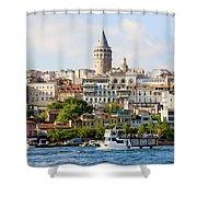 Beyoglu District In Istanbul Shower Curtain by Artur Bogacki