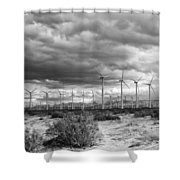 Beyond The Clouds Bw Shower Curtain