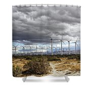 Beyond The Clouds Palm Springs Shower Curtain