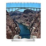 Beyond The Hoover Dam Spillway Shower Curtain