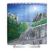 Beyond The Rock Shower Curtain