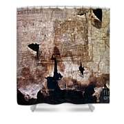 Beyond The Tattered Curtain Shower Curtain by Kevyn Bashore