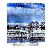Bhs Softball Field Winter 2012 Full Shower Curtain