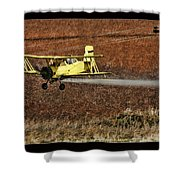 Bi Plane And Phone Pole Shower Curtain
