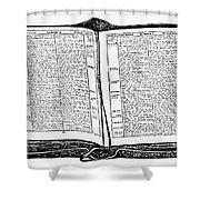 Bible, 19th Century Shower Curtain