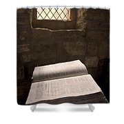 Bible In A Church, Rosedale, North Shower Curtain