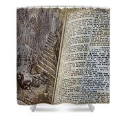 Bible Pages Shower Curtain