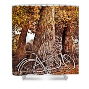 Bicycle Built For Two Shower Curtain by Debra and Dave Vanderlaan