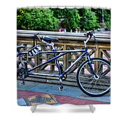 Bicycle Built For Two Shower Curtain