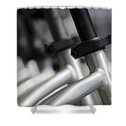 Bicycle Frame Shower Curtain