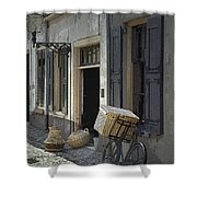 Bicycle On A Street By The Zuider Zee  Shower Curtain