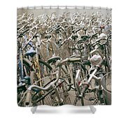 Bicycle Park In Beijing In China Shower Curtain