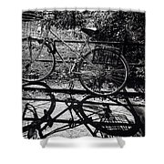 Bicycle Shadow 1 Shower Curtain