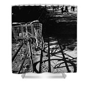 Bicycle Shadow 2 Shower Curtain