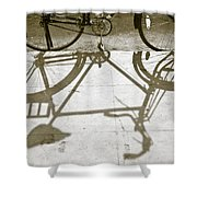 Bicycle Shadow Shower Curtain