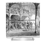 Bicycle Tournament, 1869 Shower Curtain
