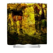 Bicyclists On The Move No. Ol6 Shower Curtain