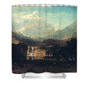 Bierstadt: Rockies Shower Curtain