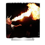 Big Axe Of Fire Shower Curtain