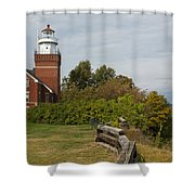 Big Bay Point Lighthouse 1 Shower Curtain