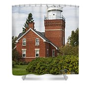 Big Bay Point Lighthouse 4 Shower Curtain
