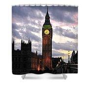 Big Ben Sunset Shower Curtain