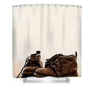 Big Boy Boots Shower Curtain