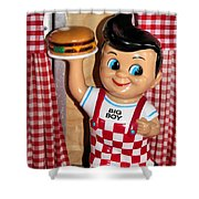 Big Boy Shower Curtain by Kristin Elmquist