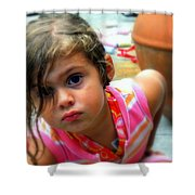 Big Brown Eyes Shower Curtain