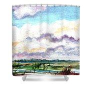 Big Clouds Shower Curtain
