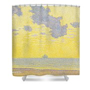Big Clouds Shower Curtain by Theo van Rysselberghe
