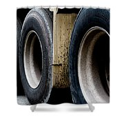 Big Fat Tires Shower Curtain