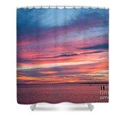 Big Florida Sunset Shower Curtain
