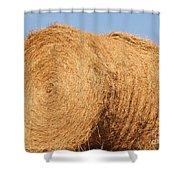 Big Hay Bail Shower Curtain